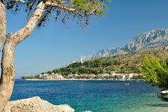 Adriatisches Meer bei Podgora, Kroatien Lizenzfreie Stockfotos