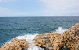 Adriatisches Meer bei Rovigno, Kroatien Stockbild