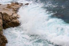 Adriatisches Meer bei Rovigno, Kroatien Stockfoto
