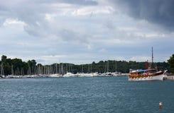 Adriatisches Meer bei Rovigno, Kroatien Stockfotos