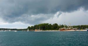 Adriatisches Meer bei Rovigno, Kroatien Stockfotografie