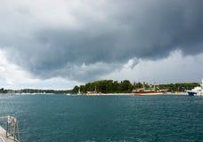 Adriatisches Meer bei Rovigno, Kroatien Lizenzfreies Stockbild