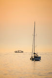 Adriatisches Meer bei Sonnenuntergang Lizenzfreies Stockfoto