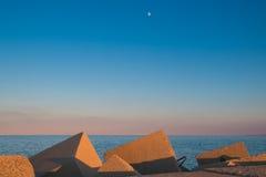 Adriatisches Meer bei Sonnenuntergang Lizenzfreie Stockbilder