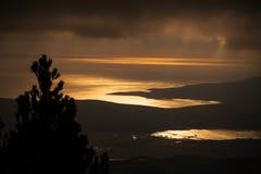 Adriatisches Meer bei Sonnenuntergang, schöne Naturlandschaft Lizenzfreie Stockfotografie
