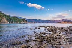 Adriatisches Meer in Budva Stockfotografie
