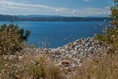 Adriatisches Meer in Dalmatien Stockbild