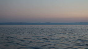 Adriatisches Meer an der Dämmerung Stockfotografie