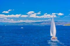 Adriatisches Meer in der Sommerzeit, Kroatien Lizenzfreies Stockfoto