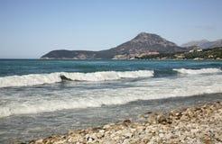 Adriatisches Meer in der Stange montenegro Lizenzfreies Stockbild