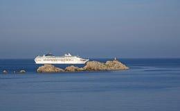 Adriatisches Meer ein Kreuzschiff vor Dubrovnik Kroatien Stockfotos