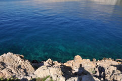 Adriatisches Meer, felsige Küste Stockbild