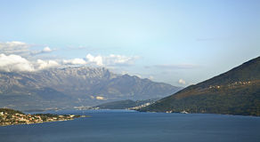 Adriatisches Meer in Herceg Novi montenegro Stockfotografie