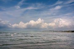 Adriatisches Meer im Urlaubsgebiet Golem Lizenzfreie Stockfotografie