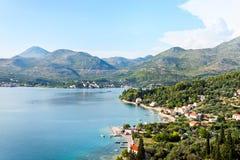Adriatisches Meer in Kroatien Stockbilder