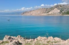Adriatisches Meer in Kroatien Stockfotografie