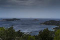 Adriatisches Meer Kroatien Stockbilder