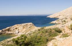 Adriatisches Meer. Kroatien. Istria. Krk Lizenzfreies Stockbild
