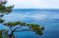 Adriatisches Meer in Kroatien, Makarska-Stadt Stockfotografie