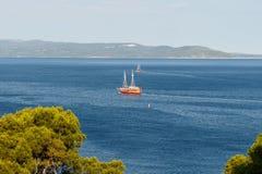 Adriatisches Meer in Kroatien, Makarska-Stadt Lizenzfreies Stockfoto