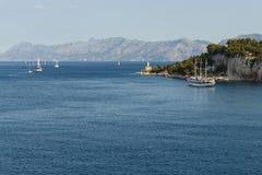 Adriatisches Meer in Kroatien, Makarska-Stadt Stockfotos