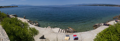 Adriatisches Meer, Malinska in Insel Krk Lizenzfreie Stockfotografie