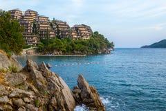 ADRIATISCHES MEER montenegro Becici Rest auf dem Meer Lizenzfreie Stockfotos