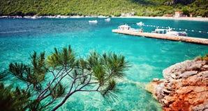 Adriatisches Meer Montenegro Seeansicht Zanjic-Strandhalbinsel Lustica Stockfoto