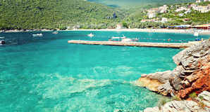 Adriatisches Meer Montenegro Seeansicht Zanjic-Strandhalbinsel Lustica Stockfotografie