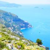 Adriatisches Meer nahe Dubrovnik Stockfotografie