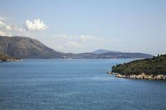 Adriatisches Meer nahe Dubrovnik kroatien Lizenzfreie Stockfotos