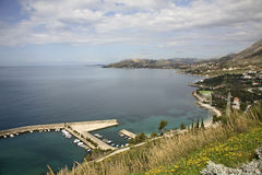 Adriatisches Meer nahe flechten dalmatia kroatien Stockfoto