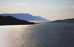 Adriatisches Meer in Neum Schattierte Entlastungskarte mit HauptStadtgebieten Stockfotos