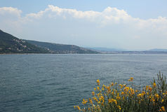 Adriatisches Meer in Nord-Italien und der Golf von Triest Lizenzfreie Stockbilder