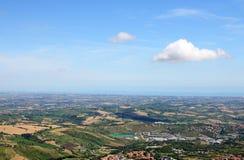 Adriatisches Meer San Marino Stockfotos