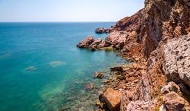 Adriatisches Meer schaukelt langes Belichtungseffektfoto Lizenzfreies Stockfoto