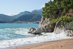 Adriatisches Meer in St Stephen in Montenegro europa Stockfotografie