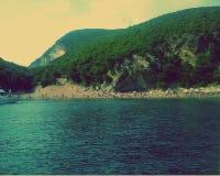 Adriatisches Meer, Strand und Berge Überraschendes Montenegro Lizenzfreie Stockfotografie