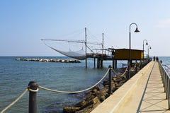 Adriatisches Meer Trabucco Lizenzfreies Stockbild