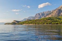 Adriatisches Meer Tucepi Stockbild