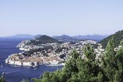 Adriatisches Meer und Dubrovnik, Kroatien Lizenzfreie Stockfotografie