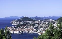 Adriatisches Meer und Dubrovnik - Panorama/Dalmatien, Kroatien Lizenzfreie Stockbilder