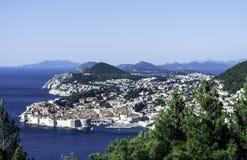 Adriatisches Meer und Dubrovnik - Panorama/Dalmatien, Kroatien Stockfoto