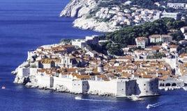 Adriatisches Meer und Dubrovnik - Panorama/Dalmatien, Kroatien Stockfotografie