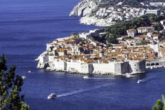 Adriatisches Meer und Dubrovnik - Panorama/Dalmatien, Kroatien Lizenzfreie Stockfotografie