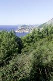 Adriatisches Meer und Dubrovnik - Panorama/Dalmatien, Kroatien Stockbilder