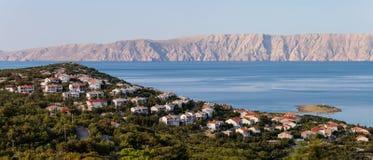 Adriatisches Meer und Krk-Insel Lizenzfreie Stockfotos