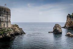 Adriatisches Meer von Dubrovnik, Kroatien Stockfotos
