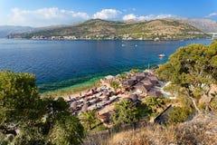 Adriatisches meeres- Dubrovnik Babin Kuk, Lapad, Kroatien Lizenzfreie Stockbilder