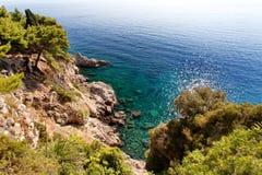 Adriatisches meeres- Dubrovnik, Dalmatien, Kroatien Stockbilder